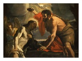 The Baptism of Christ Giclee Print by Mattia Preti