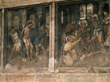Flagellation of Christ, and Ecce Homo, from Frescos Showing Passion Scenes, 15th Century Gothic Photographic Print