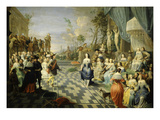 Ball on the Terrace of a Palace Giclee Print by Hieronymus Janssens