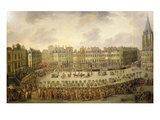 Great Procession in Lille, France, 1780 Lámina giclée por Francois Louis Joseph Watteau