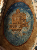 Noah's Ark, Fresco, 1562, Tecamachalco, Puebla, Mexico Photographic Print by Juan Gerson