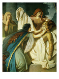 Death of Siegfried, from Siegfried, Opera by Richard Wagner, 1813-83 Giclee Print by Wilhelm Hauschild