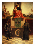 Madonna and Child with Saints, Altarpiece Giclee Print by Giorgio Giorgione