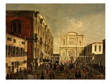 The Doge and the Signoria Processing to San Rocco Church, Venice, Italy Giclee Print by Gabriele Bella