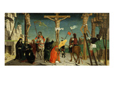 The Crucifixion, from Predella, Altarpiece of San Martino Giclee Print by Bernardino Butinone