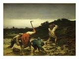 La Récolte De Pommes De Terre Pendant L'Inondation Du Rhin En 1852 Giclee Print by Gustave Brion