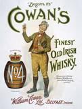 Cowan's Irish Whisky Cartel de chapa