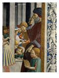 Schoolmaster and Pupils, from Saint Augustine Being Taken to School Giclée-tryk af Benozzo Gozzoli