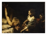 Judith and Holofernes (Judith Kills Holofernes, Assyrian General of Nebuchadnezzar) Giclee Print by  Valentin de Boulogne