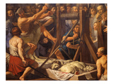 Finding the Relics of Saints Gervasius and Protasius, Miraculously Rediscovered in 386 Giclee Print by Philippe De Champaigne
