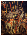 Horsemen, from Battle of San Romano (Depicting Florentine Victory over Sienese in 1432), C. 1455 Gicleetryck av Paolo Uccello