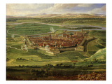 Village of Dôle, from Siege of Besançon, France, Showing Vauban Fort by Louis Xiv in 1674 (Detail) Giclee Print by Jean-Baptiste Martin