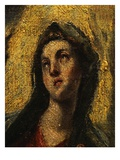Face of Virgin Mary, from the Coronation of the Virgin, 1591 (Detail) Giclee Print by  El Greco