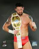 Wade Barrett with the Intercontinental Championship Belt 2012 Posed Photo