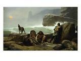 Les Garde-Côtes Gaulois (Gaulish Coastguards) (Rf 907) Giclee Print by Jean Jules Antoine Lecomte du Nouy