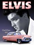 Elvis - Pink Cadillac Plaque en m&#233;tal