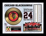 Chicago Blackhawks Gold Record Framed Memorabilia