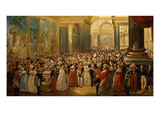 Inauguration of the Battle Gallery, Museum of Château De Versailles, France, 10 June 1837 (Mv 7062) Giclee Print by Jean Auguste Bard
