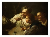The Drawing Lesson Giclee Print by Domenico Maggiotto