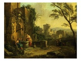 La Samaritaine Au Puits (The Samaritan Woman) Giclee Print by Jean Baptiste Lallemand