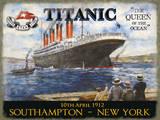 Titanic Cartel de chapa
