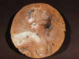 Young Girl Squeezing Her Breast, Drawing Photographic Print by Jean-Honoré Fragonard