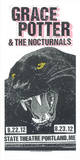 Grace Potter & The Nocturnals - Panther Serigraph by  Print Mafia