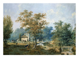 Mill and Gardens, Ermenonville, France, Painted in French Revolutionary Year Ii (1794) Giclee Print by J Moreth
