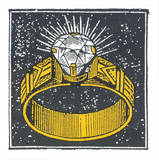 This Diamond Ring Serigraph by  Print Mafia