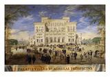 Villa Borghese, Façade, Rome, Italy, 1636 Watercolour Giclee Print by Johann Wilhelm Baur