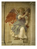 Angel Gabriel of the Annunciation, Fresco, Library Giclée-tryk af Francesco De Rossi Salviati Cecchino