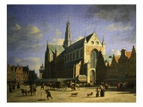 Market Square, Haarlem, the Netherlands Giclee Print by Gerrit Adriaensz Berckheyde