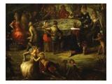 Festin Dans Un Parc (Feast in a Park) (Detail) Giclee Print by Louis de Caullery Or Caulery (Attr to)