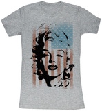 Juniors: Marilyn Monroe - Marilyn Flag T-Shirt