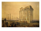 Temple of Olympian Zeus (Olympeion), 515 BC -132 Ad, Completed by Emperor Hadrian, Athens, Greece Giclee Print by Thomas Witlam Atkinson