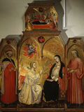 The Annunciation, with Saints Cosmas and Damian, 3rd Century Martyrs Photographic Print by Taddeo di Bartolo