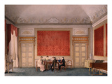 Salon of Maria Luisa of Parma, 1832 Watercolour Giclee Print by Giuseppe Naudin