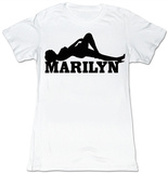 Juniors: Marilyn Monroe - Black & White Shirt