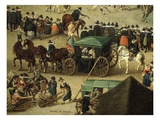 Carriage and Onlookers, from Festival of Our Lady of the Woods, 1616 (Detail) Impression giclée par Denys van Alsloot