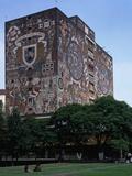 Central Library with 1950-55 External Frescos, Mexico City, Mexico, Central America Photographic Print by Juan O'Gorman