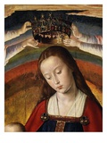 Virgin Mary, from Bourbon Altarpiece, Late 15th Century (Detail) Giclee Print by Jean Hey
