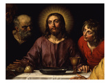 Christ Flanked by Saints John and Peter, from the Last Supper, 1618 (Detail) Giclee Print by Frans II Pourbus