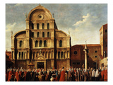 Doge at San Zaccaria Church, Venice, Italy, on Easter Sunday Giclee Print by Gabriele Bella