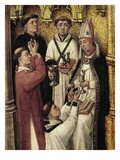 Future Religious or Novices Receiving Communion and Unction, from Redemption Triptych (Detail) Giclée-Druck von Rogier van der Weyden