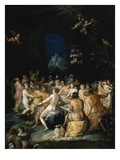 Divine Banquet, from Bath of Neptune (Detail) Giclee Print by Frans II Francken