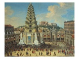 Fête in the Largo, Naples, Italy Giclee Print by Tommaso Ruiz