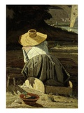The Washerwoman (La Lavandière), 1860 (Rf 2051) Giclee Print by Paul Camille Guigou