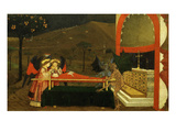 Angels and Devils Fighting over Body of Woman Who Had Sold the Host, Sixth Scene Giclee Print by Paolo Uccello