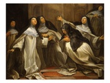 Sisters of Our Lady of Charity of the Refuge, Tours, Praying, 1735 Giclee Print by Charles Lamy