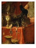 Treasure, from Xerxes (Ahasuerus), King of Persia, Showing His Treasure to Mordecai Giclee Print by Claude Vignon
